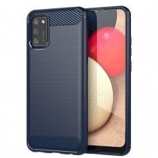 "Akcija! Samsung galaxy A02S dėklas ""Carbon case"" TPU mėlynas"
