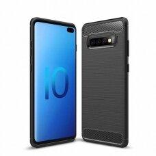 """Samsung galaxy s10 plus dėklas """"Carbon case"""" TPU juodas"""
