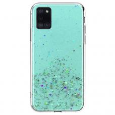 Akcija! Samsung Galaxy A02S dėklas Wozinsky Star Glitter žydras