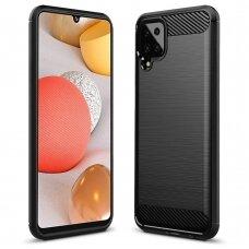 """Akcija! Samsung galaxy A12 dėklas """"Carbon case"""" TPU juodas"""