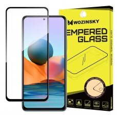 Akcija! xiaomi note 10 / note 10s lenktas grūdintas apsauginis stiklas wozinsky H Pro 5D FULL GLUE juodais kraštais