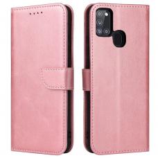 akcija! Samsung galaxy a21s atverčiamas dėklas Magnet Case elegant rožinis