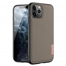 iphone 12 mini dėklas Dux ducis Fino dengtas austu nailonu rudas