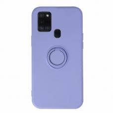 Akcija! Samsung Galaxy a21s dėklas su magnetu Finger Ring violetinis