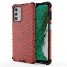 Akcija! Samsung Galaxy A32 5G plastikinis dėklas HONEYCOMB raudonas