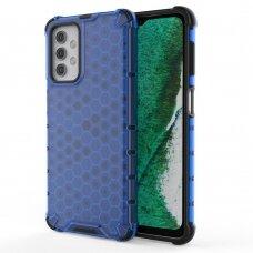 Akcija! Samsung Galaxy A32 5G plastikinis dėklas HONEYCOMB mėlynas
