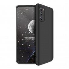 Akcija! Samsung galaxy a41 HURTEL dėklas dvipusis 360 plastikas juodas