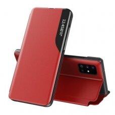 Akcija! Samsung Galaxy A51 atverčiamas dėklas Eco Leather View raudonas