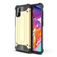 Akcija! Samsung galaxy a51 dėklas Hybrid Armor  TPU+PC plastikas auksinis