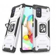 akcija! Samsung Galaxy a51 dėklas Wozinsky Ring Armor pc plastikas pilkas