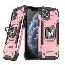 akcija! Iphone 11 Pro dėklas Wozinsky Ring Armor pc plastikas rožinis