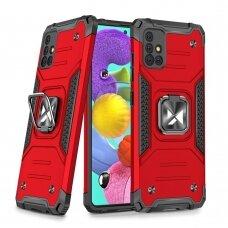 akcija! Samsung Galaxy a51 dėklas Wozinsky Ring Armor pc plastikas raudonas