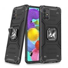 Akcija! Samsung Galaxy a51 dėklas Wozinsky Ring Armor pc plastikas juodas
