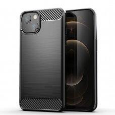 Akcija! Iphone 13 mini dėklas Carbon case TPU juodas