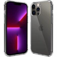 Iphone 13 pro max dėklas ANTISHOCK Skaidrus 0,5mm SILIKONINIS