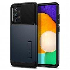 Akcija! Samsung GALAXY  a52 dėklas SPIGEN SLIM ARMOR juodas/metalo spalvos