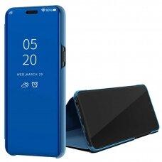 Akcija! Samsung Galaxy A51 atverčiamas dėklas Clear View veidrodiniu-permatomu dangteliu mėlynas