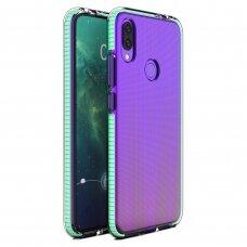 Akcija! Huawei P smart 2019 dėklas Spring Case TPU skaidrus mėtiniais kraštais