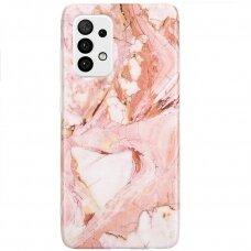 Akcija! Samsung Galaxy A32 5G nugarėlė Wozinsky Marble TPU Rožinė