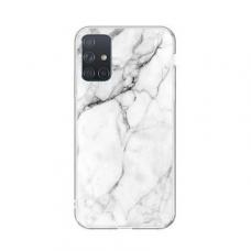 Samsung Galaxy A32 5G nugarėlė Wozinsky Marble TPU baltas