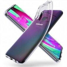 Samsung Galaxy A40 dėklas ULTRA CLEAR 0,5MM skaidrus