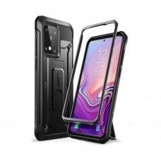 """Akcija! Samsung Galaxy Note S20 ultra dvipusis smūgiams atsparus dėklas be priekinio stiklo """"Supcase Unicorn beetle Pro"""" juodas ypač tvirtas"""