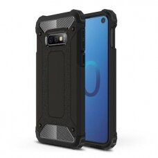 Samsung galaxy s10E dėklas Hybrid Armor  TPU+PC plastikas juodas