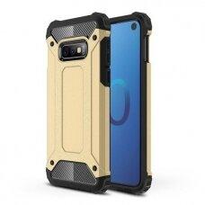 Samsung galaxy s10e dėklas Hybrid Armor  TPU+PC plastikas auksinis