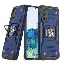 Akcija! Samsung Galaxy S20 apsauginis dėklas Wozinsky Ring Armor mėlynas