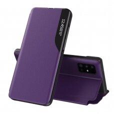 Akcija! Samsung Galaxy S20 Plus atverčiamas dėklas Eco Leather View violetinis