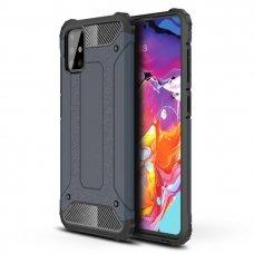 Akcija! Samsung galaxy a51 dėklas Hybrid Armor  TPU+PC plastikas mėlynas