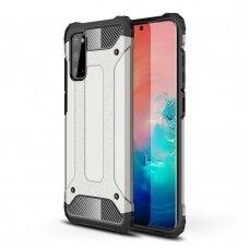 Samsung galaxy s20 dėklas Hybrid Armor  TPU+PC plastikas pilkas