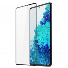 Akcija! Samsung Galaxy s21 apsauginis stiklas Dux Ducis 9D Tempered Glass Tough Screen Protector Full Coveraged Juodais kraštais