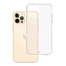 Iphone 13 pro max dėklas 3MK Armor case TPU 1,2mm permatomas
