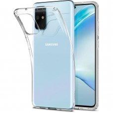 Akcija! Samsung Galaxy S20 Plus dėklas Spigen Liquid Crystal skaidrus