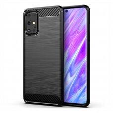 """Akcija! Samsung galaxy s20 TPU dėklas """"Carbon Lux"""" Juodas"""