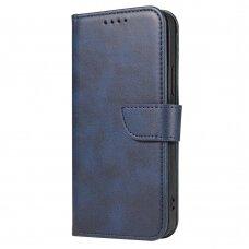 akcija! xiaomi redmi note 9s / note 9 pro atverčiamas dėklas Magnet Case elegant tamsiai mėlynas