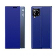 akcija! samsung galaxy a12 atverčiamas išmanus dėklas New Sleep Case mėlynas