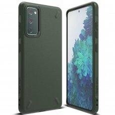 Akcija! Samsung Galaxys s20fe nugarėlė Ringke Onyx Durable TPU tamsiai žalia