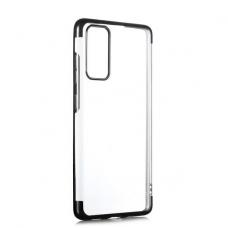 Akcija! Samsung Galaxy S21 TPU Electroplating skaidrus juodais kraštais