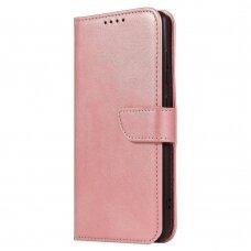Samsung Galaxy A50 Atverčiamas Dėklas Magnet Case elegant bookcase rožinis