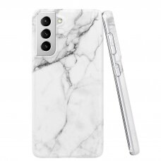 Akcija! Samsung galaxy s21 Wozinsky Marble TPU Baltas
