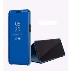 Akcija! Samsung s20 ultra atverčiamas dėklas Clear View veidrodiniu-permatomu dangteliu mėlynas