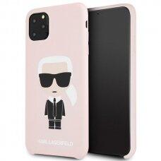 AKCIJA! IPHONE 11 pro max silikoninė nugarėlė Karl Lagerfeld KLHCS62SLFKBK rožinė