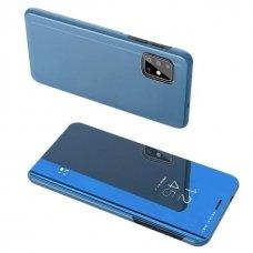 Akcija! Samsung s20 atverčiamas dėklas Clear View veidrodiniu-permatomu dangteliu mėlynas