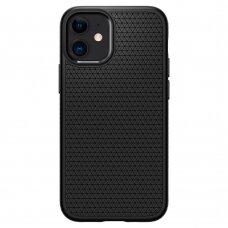 Akcija! Iphone 12 Mini Spigen Liquid Air Aukštos Kokybės Dėklas  Matinis Juodas