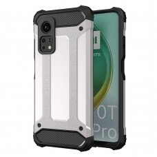 Akcija! Xiaomi mi 10T / 10T pro dėklas Hybrid Armor Case Tough Rugged sidabrinis