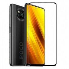 Xiaomi Poco X3 NFC apsauginis ekrano stikliukas juodais kraštais 3MK Hard Glass Max Lite