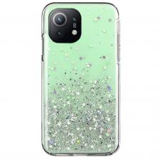 Akcija! Xiaomi Mi 11 dėklas Wozinsky Star Glitter žalias