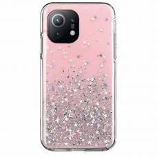 Akcija! Xiaomi Mi 11 dėklas Wozinsky Star Glitter rožinis